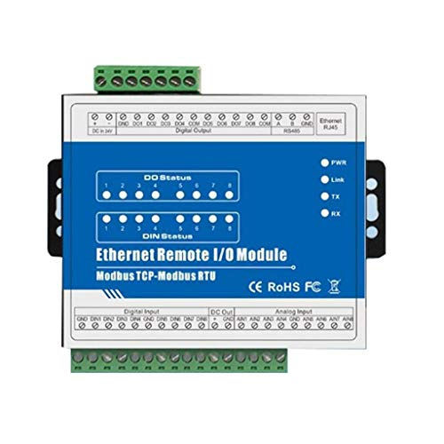 ZJN-JN M160T Modbus TCP Remote Ethernet Modulo IO, 8-Channel 8 CH Uscita (8DI + 8DO + 8AI + RJ45 + RS485) Accessori per stampanti Accessori PC