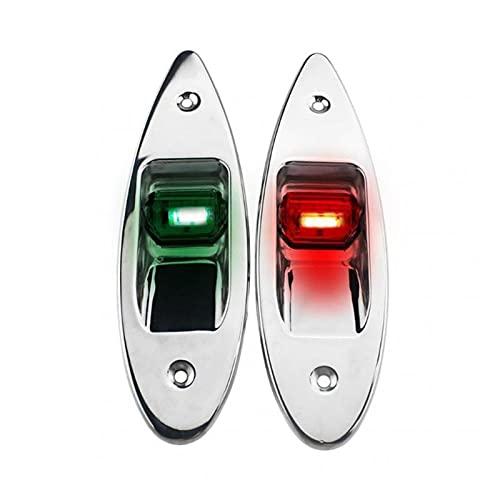 ZHU-CL Strobe Warning Light 12V 1 Pair LED Red+Green Navigation Light Signal Warning Lamp Flush Mount Marine Boat RV Side Navigation Lights Nature White