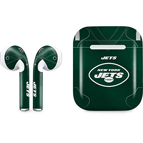 Skinit Decal Audio Skin Compatible with Apple AirPods with Lightning Charging Case - Officially Licensed NFL New York Jets Team Jersey Design