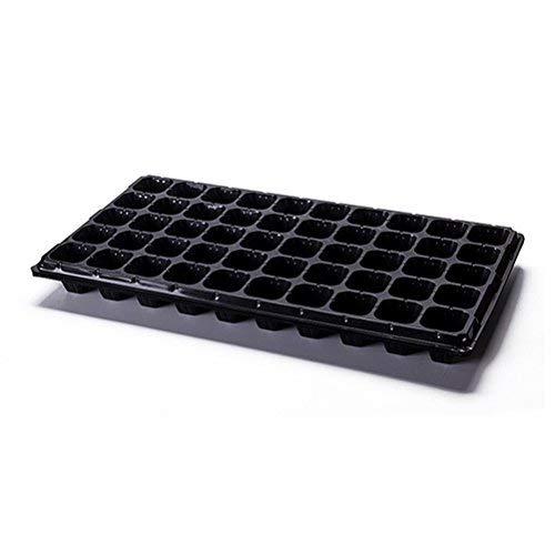 BESTonZON Lot de 4 plateaux de démarrage Seed Sprouter Trays, 50 holes Tray Plant Grower (Noir)