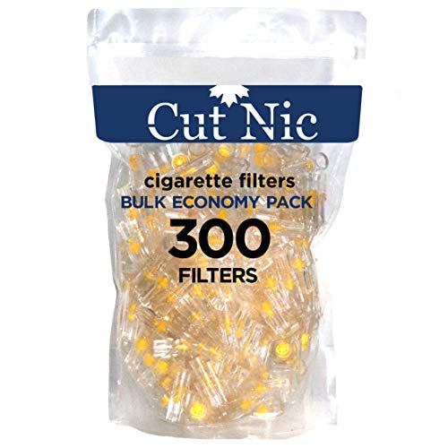 Cut-Nic 8 Hole Easy Draw Disposable Cigarette Filters - Bulk Economy Pack (300 Per Pack) Filter Tips