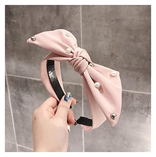 YINGNBH Banda para el Cabello Fashion Big Bowknot Hairband para Las Mujeres Accesorios para el Cabello de Las señoras con la Banda de Pelo Antideslizante de la incrustación de Las Perlas al por Mayor