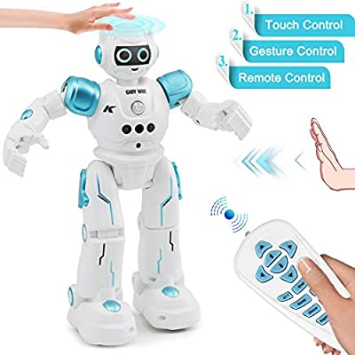 YITOOK Remote Control Robot, Gesture Control Robot Toys for Kids, RC Smart Robot with Learning Music Programmable Walking Dancing Singing, Rechargeable Gesture Science Kits & Toys Gift for Children