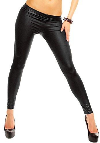 Leggings donna effetto pelle elastici varie taglie. MWS (L/XL)