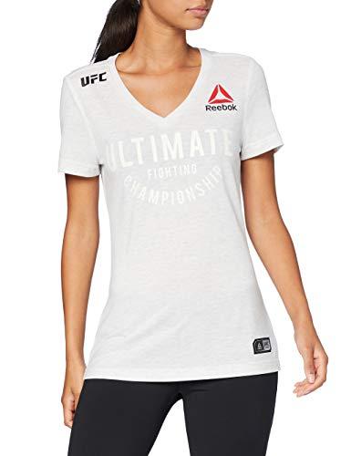Reebok UFC FK Ultimate Jersey Camiseta, Mujer, Chalk, L