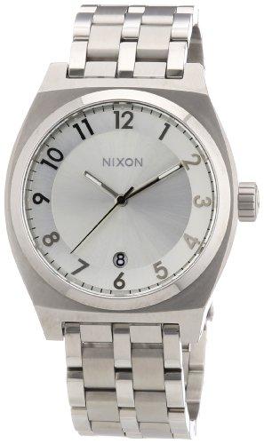 Nixon A325100-00 - Reloj analógico de Cuarzo para Mujer con Correa de Acero Inoxidable, Color Plateado