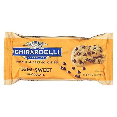 Ghirardelli Chocolate Premium Baking Chips, Semi-Sweet Chocolate, 12 Ounce (Pack of 12)
