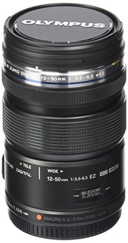 Olympus M.Zuiko Digital ED 12-50mm F3.5-6.3 EZ Lens, for Micro Four Thirds Cameras (Black)