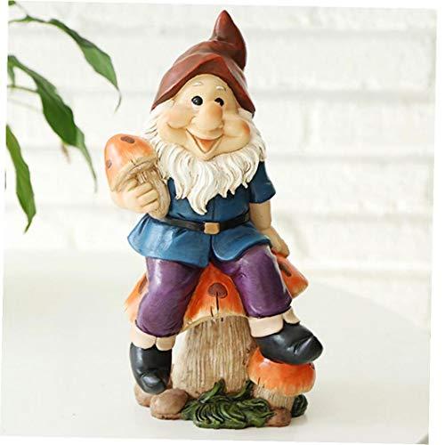 lulongyansf Gartenzwerg Zwerge Figuren Dekorative Ornamente Miniatur Resin Geburtstags-Geschenke für Kinder im Freien