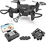 4DV2 RC Mini Drone with 720P HD Camera for Kids,FPV Live Video Foldable RC Quadcopter Helicopter for Beginners,Toys Gifts for Boys Girl,One Key Return,Headless Mode,Trajectory Flight,3D Flips