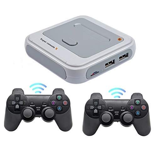 Kikier Wireless Retro Game Console,Super Built-in 48/52 Emulators Super 30000/40000 Games Wifi Hdmi Output Support PS1 / N64 / DC