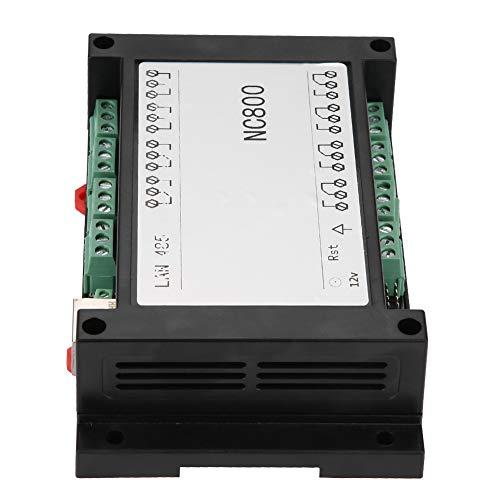 Tablero de control remoto TCP/IP estable AC 250V 10A Mini retorno de estado blanco/negro 8 canales Ethernet RJ45 controlador de relé con estuche(white)