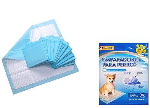 Cisne 2013, S.L. 40 Empapadores Perros Alfombrilla higiénica de Entrenamiento para Perros. Ultraabsorbente (90 x 60 cm)