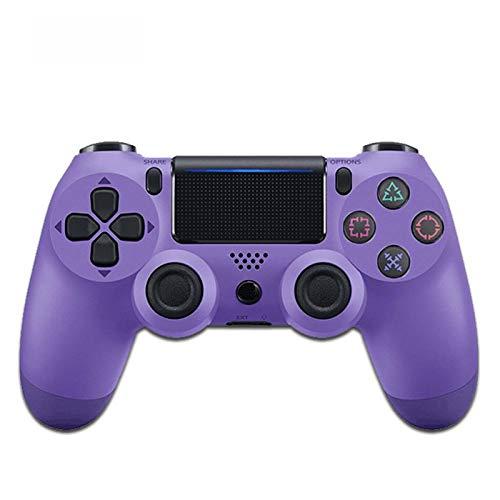 FLLKIHH Mando inalámbrico para PS4 Remote para Playstation 4 con Cable de Carga y Doble Descarga,Electric Purple