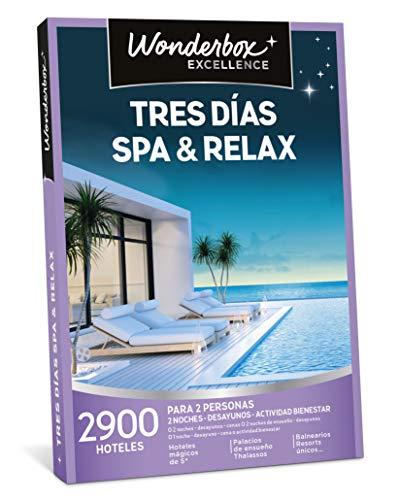 WONDERBOX Caja Regalo para mamá - Tres DÍAS SPA & Relax - Dos Noches con desayunos y Actividad Bienestar o más Opciones a Elegir Entre 2.900 hoteles para Dos Personas.