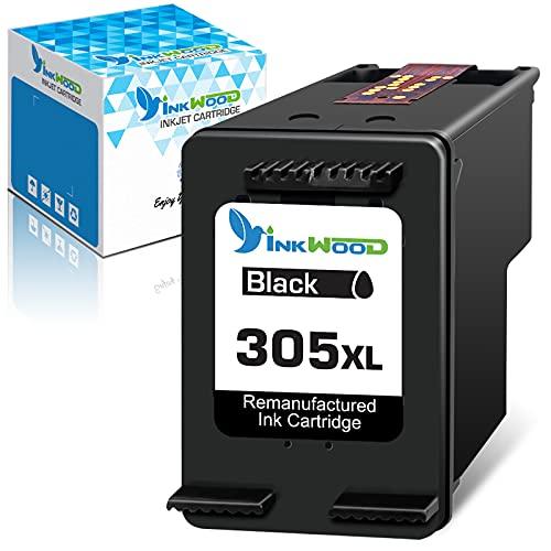 Inkwood 305 XL Repuesto reciclado para Cartucho tinta HP 305 HP 305 XL para impresoras de inyección de tinta HP DeskJet Serie 2700 4200 ENVY Serie 6020 6030(1 negro)