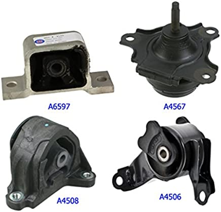 Front Engine /& Transmission Mount Set of 3 Kit for 01-05 Honda Civic 1.7L