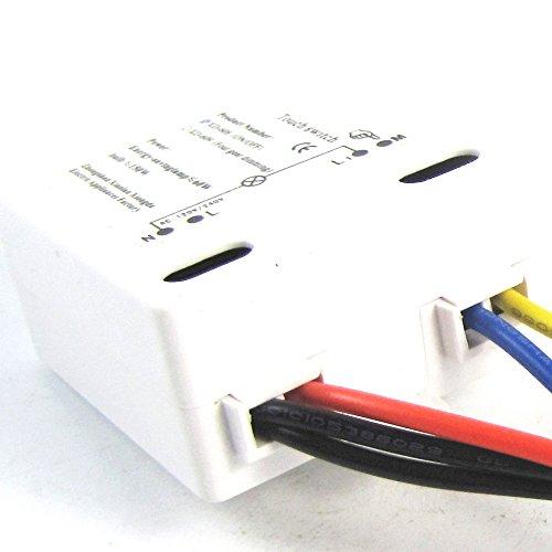 Interruttore a contatto on/off 220V per lampada a risparmio energetico in metallo