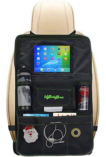 MyBabyBoss | Protezione Sedile Auto Bambini, Organizer per Auto, Supporto per Tablet, Proteggi i Sedili della tua macchina, Impermeabile e Facile da Pulire.