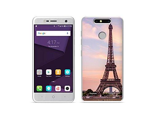 etuo Handyhülle für ZTE Blade V8 Mini - Hülle Foto Hülle - Eiffelturm in Paris - Handyhülle Schutzhülle Etui Hülle Cover Tasche für Handy