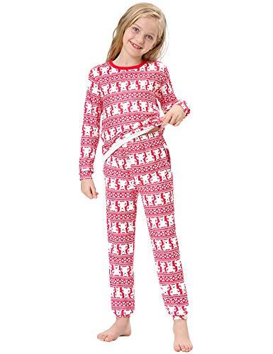 Irevial Pijamas de Navidad Familia Conjunto Algodón Pijama Navidad Familia...