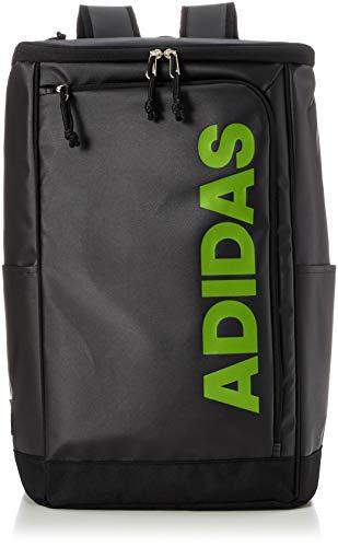 [アディダス] リュックサック MODEL.NO.61093 B4サイズ 31L PCポケット付き ブラック×グリーン