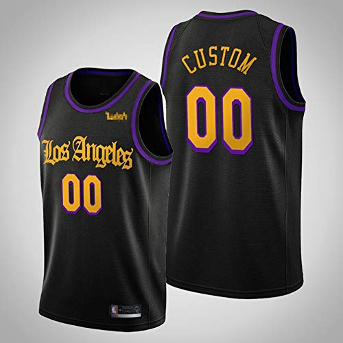 TGSCX NBA Los Angeles Lakers Campeones de Baloncesto Jersey 00# Camiseta de Baloncesto Personalizada para Hombre de Baloncesto para Hombre Desgaste de los Deportes Transpirables,A,L