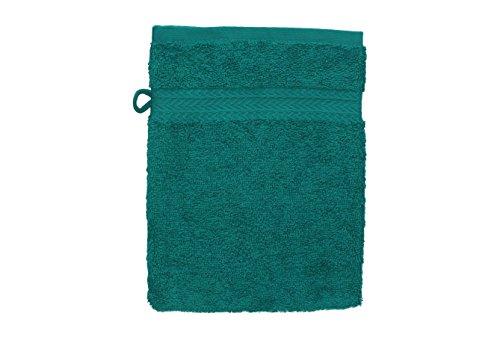 Betz Gant de Toilette pour Visage Corps Gant de Toilette Taille 16x21 cm 100% Coton Premium Couleur Vert émeraude
