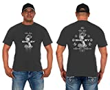 JH Design Men's Shelby Cobra T-Shirt Short Sleeve Crew Neck Shirt (2X, Gray)