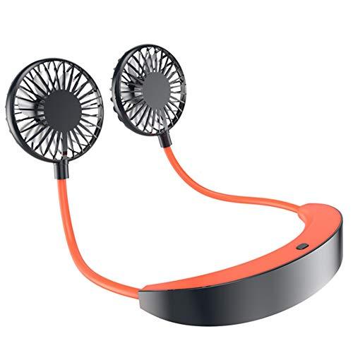 Hrsptudorc Ventilador de Cuello Colgante Ventilador Enfriador de Aire Conveniente Al Aire Libre Carga USB Estudiante Creativo Ventilador de Enfriamiento de Aire EléCtrico