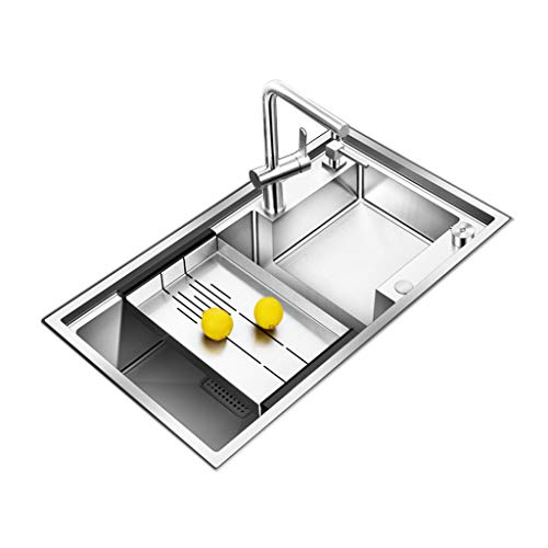 Lowest Prices! ADKINC Single Bowl Kitchen Sink, High Capacity Stainless Steel Sink, Anti-Condensatio...