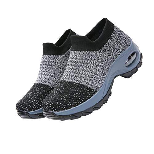 Happyyami Zapatillas Deportivas de Mujer Zapatos Running Fitness Gym Malla Outdoor Sneaker...