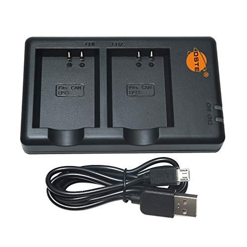 DSTE LC-E10 Batería USB Dual Quick Cargador Compatible para LP-E10,Canon EOS 1100D, EOS 1200D, EOS Kiss X50, EOS Kiss X70, EOS Rebel T3, EOS Rebel T5