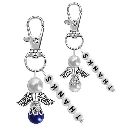 KNMY - 30 colgantes de ángel de la guarda para bodas, con bolsa de organza, para regalar en bodas y bautizos
