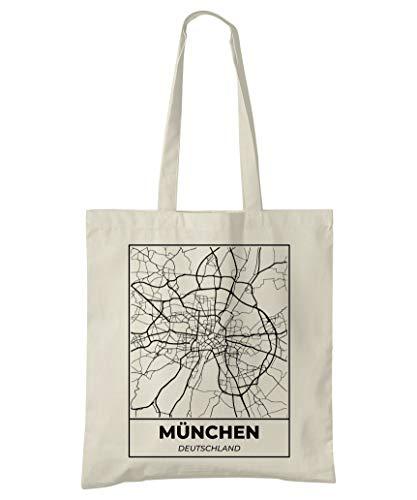 Super Cool Totes München, Deutschland, Stadtplan Einkaufstasche (Design 5)
