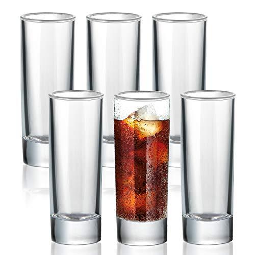 COCHIE 6 Schnapsgläser Shotgläser Set, 6cl Schnapsglas und Likörgläser aus Hochwertiges Glas, Shot Gläser Set für Whisky Tequila Wodka