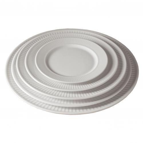 Pillivuyt Plissé tallerken flad hvid - 17 cm - CYBER WEEK