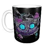 fangzi Wonderland Cheshire Cat Smile Tazza da caffè in Ceramica novità Unica caffè Tazza da tè Home Office per Gli Amanti degli Anime Idea Regalo di Compleanno Festival