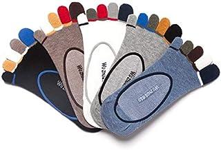 Calzado Deportivo de Verano para Hombres Calcetines Invisibles Calcetines de Cinco Dedos Algodón Sudor Desodorante Calcetines Invisibles Calcetines de Malla de Baja Ayuda