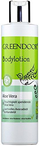 Vegane Greendoor Bodylotion Aloe Vera 250ml, Naturkosmetik Körperlotion, Manufaktur-Qualität ohne Silikon, ohne Parabene, natürliche Körpermilch gegen trockene Haut, Natur Body Lotion