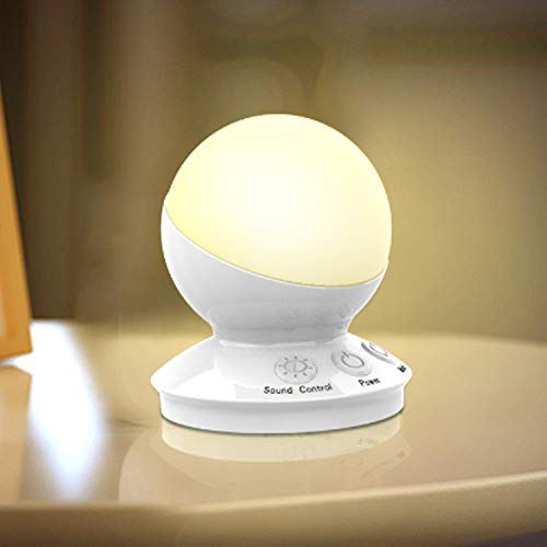 LED Night Lights 7 Colors Changing Music Mode USB Rechargeable Bedside Lamp Voice Control for Kids,Bedroom