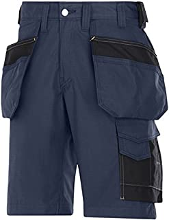 Snickers 30239504050 Rip-Stop artisan shorts with holster pouch size 50 navy blue