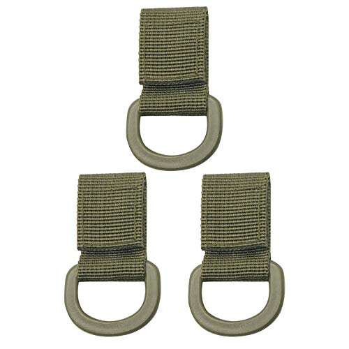 ZQO 3 uds Banda de cinturón Colgante Clip de cinturón Colgante táctico Clip de cinturón de Llavero táctico al Aire Libre para Mochila táctica