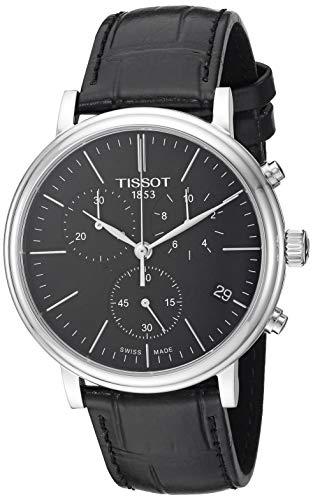 Tissot mens Carson Stainless Steel Dress Watch Black T1224171605100