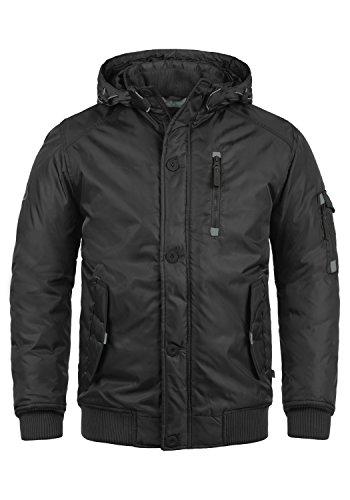 !Solid Bettino Herren Übergangsjacke Herrenjacke Jacke mit Kapuze, Größe:L, Farbe:Black (9000)