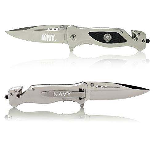 Navy Folding Elite Tactical Knife - Spring Assisted Navy Rescue Knife