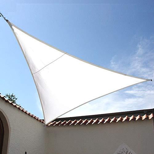 Dekowelten Terrassen Sonnensegel dreieck der ExtraKlasse 3,00m wasserdicht weiß Regenschutz