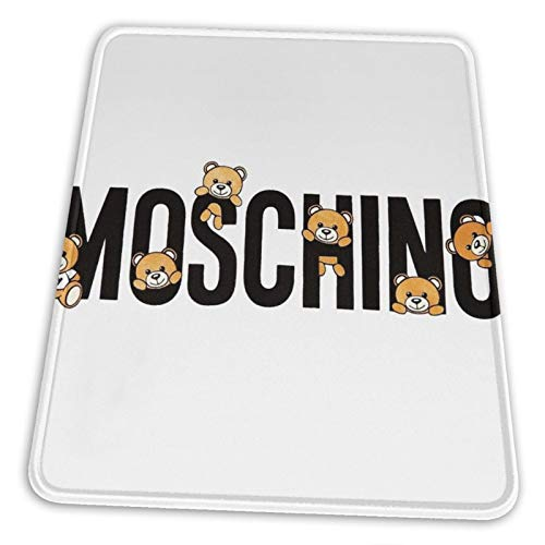 Cute Moschino Teddy Bear Mouse Pad Non-Slip Rubber Base for Office Gaming Computer with Stitched Edge 10x12 in