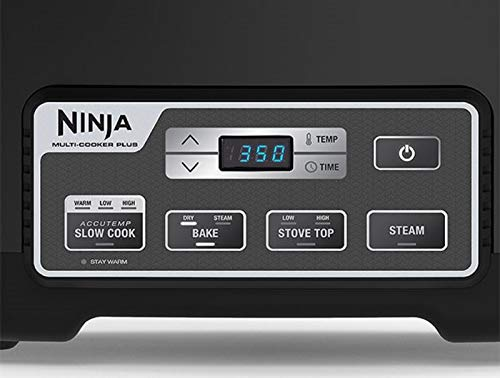 Ninja MC760 Plus 4-in-1 Multi, Stove Top, Steam, and Bake Slow Cooker System W/Triple Fusion Heat for Excellent and Healthier Cooking Performance, 6 Quart Black