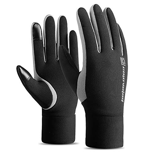 Lixada Winterhandschuhe Fahrrad wasserdichte Fahrradhandschuhe Touchscreen-Handschuhe Regenfest Sporthandschuhe mit Warmem Futter Unisex